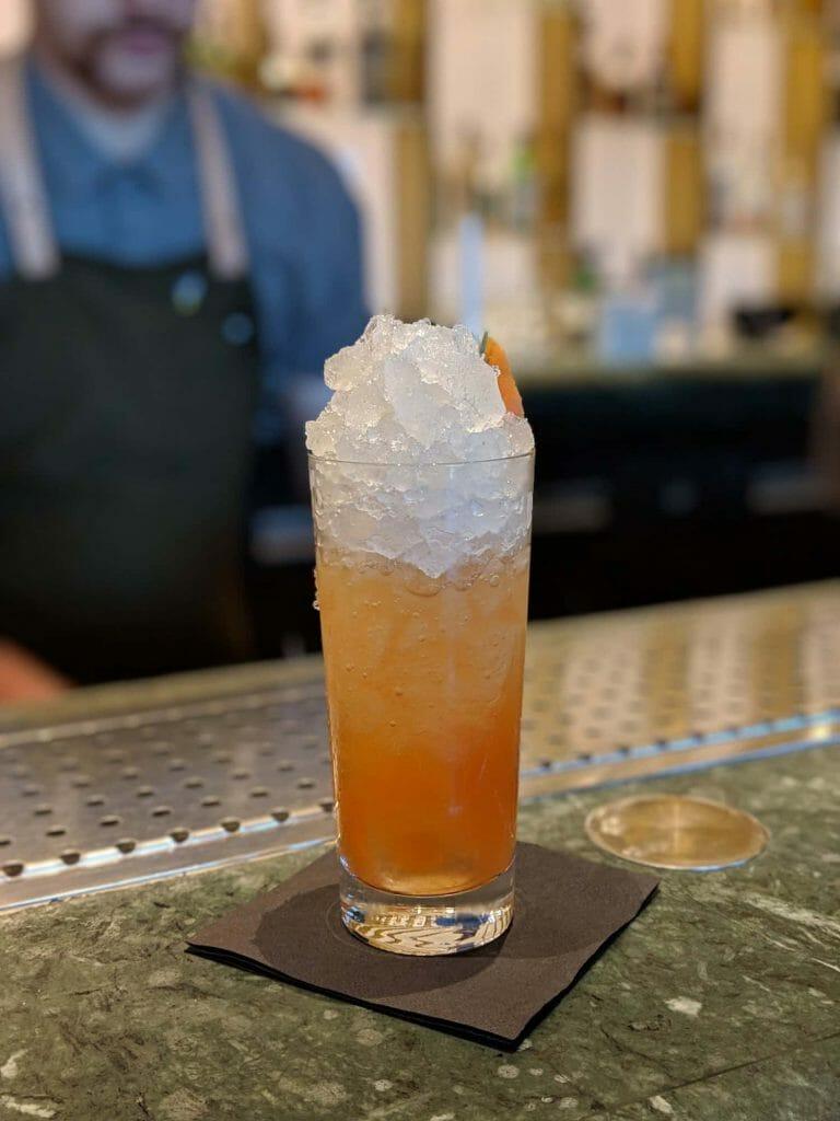 Space Fizz - very light cocktail. Perhaps a bit too light?